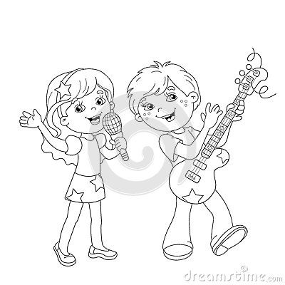 Kids Singing Stage Stock Illustrations 36 Kids Singing Stage