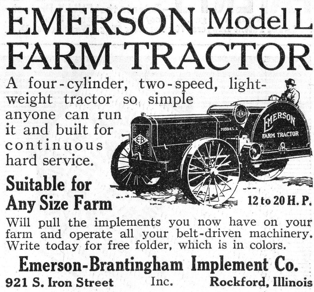 1916 Emerson Tractor