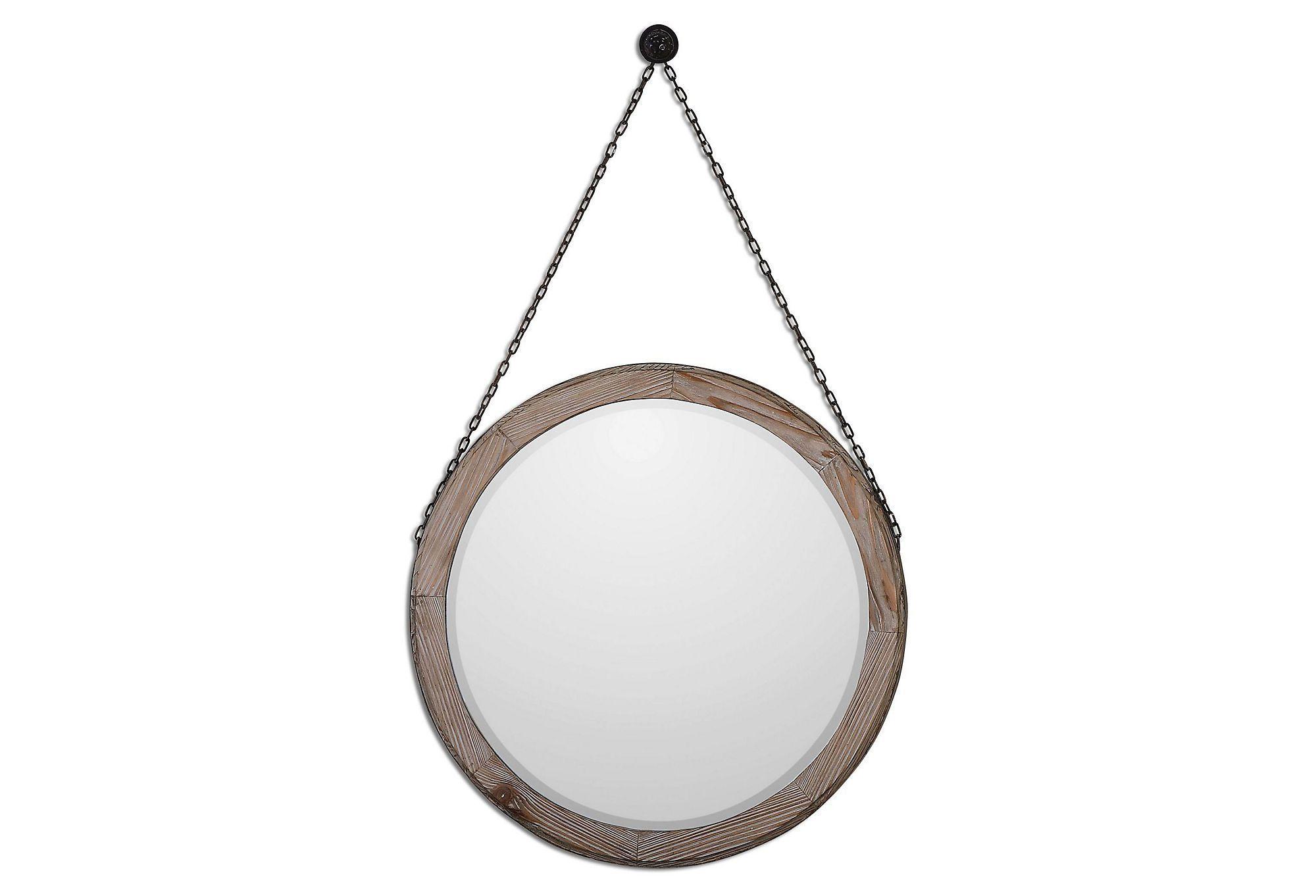Logan Wall Mirror, Rustic | One Kings Lane