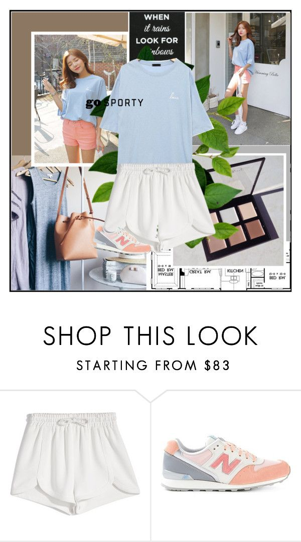 """1051"" by melanie-avni ❤ liked on Polyvore featuring Joie, Francesco Scognamiglio, New Balance, koreanfashion and gosporty"