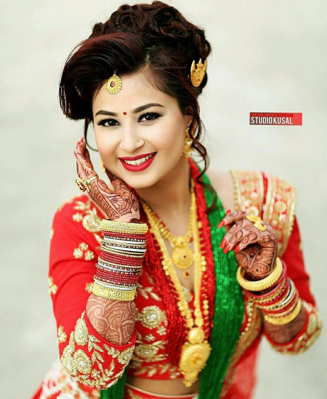 nepali #wedding #tradition #nepal #marriage #bride #makeup