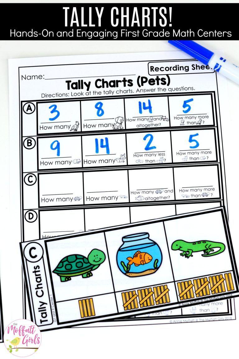 First Grade Math Graphs Data First Grade Math Tally Chart First Grade Worksheets