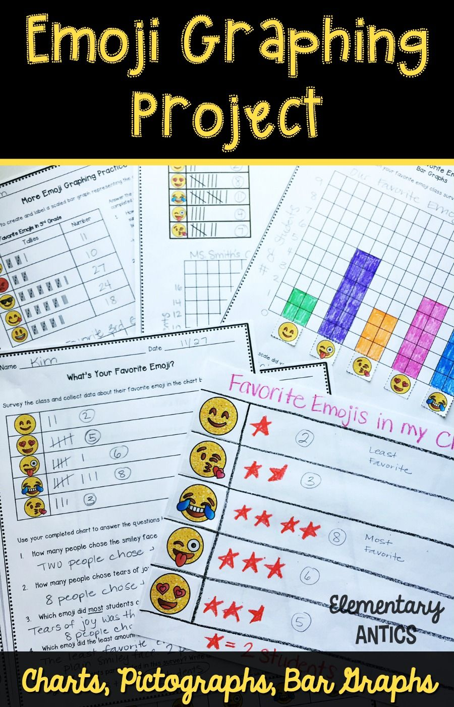 Emoji Graphs And Data Project Charts Pictographs Bar Graphs Bar Graphs Graphing Project Graphing [ 1400 x 900 Pixel ]