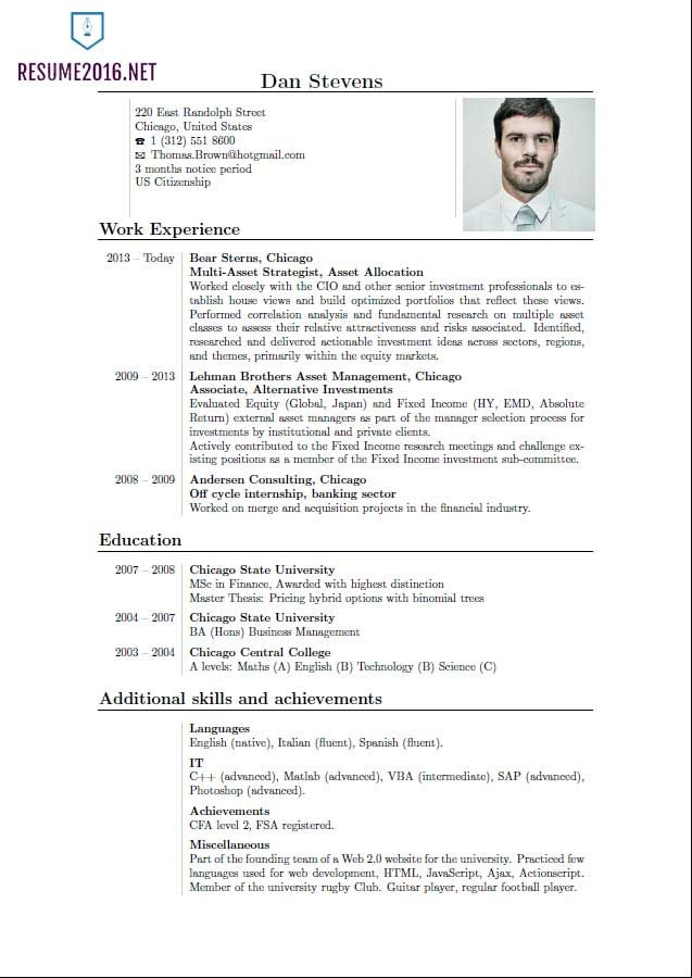 Latest Sample Resume Template And Resume Format