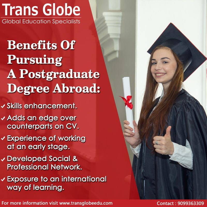 Benefits of pursuing a Post Graduate Degree Abroad Study