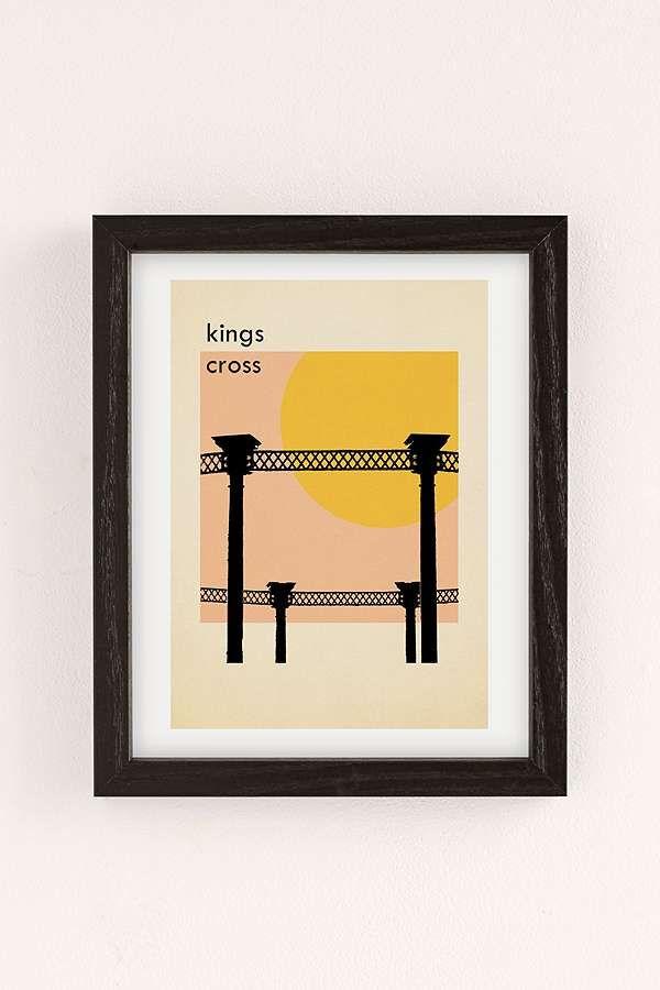 Indie Prints Kings Cross Wall Art Print | Cross wall art, Cross ...