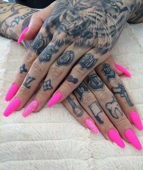 Psaiko Killah Barbie Pink Nails Hand And Finger Tattoos Jeffree Star Tattoos