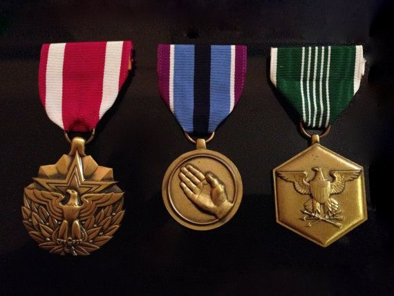 Military Medal Bronze Medals Military Service Medals by Moqii, $30.00