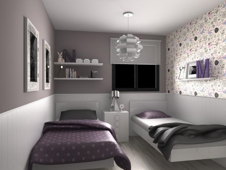 Habitaciones compartidas c mo decorarlas habitaci n - Habitacion pequena dos camas ...