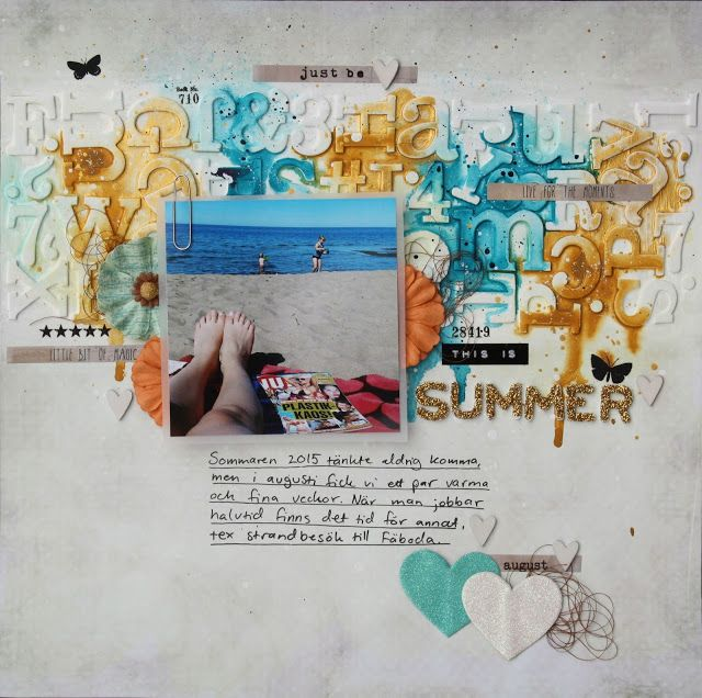 Saras pysselblogg - Sara Kronqvist: This is summer | Mixed media scrapbook layout
