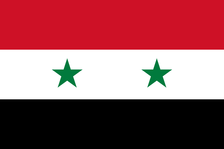 Flag Of Syria Gallery Of Sovereign State Flags Wikipedia The