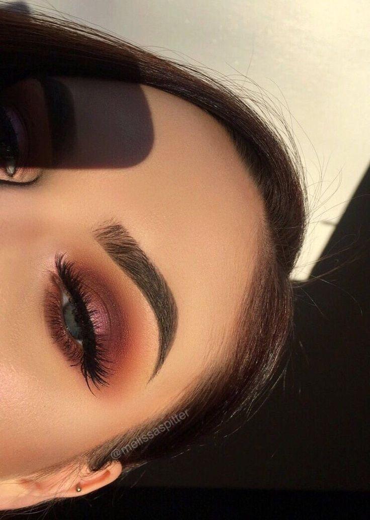 Natural Bristle Makeup Brushes: Purple Orange Smokey Eye Look