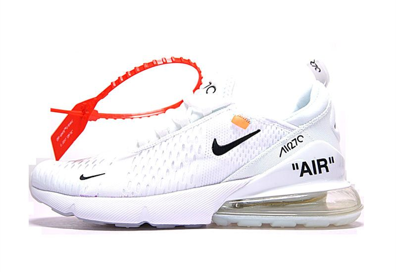 Cheap Men's Off White x Nike Air Max 270 Running Shoes White