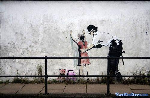 A1 size poster canvas banksy graffiti street west bank wall decor art print
