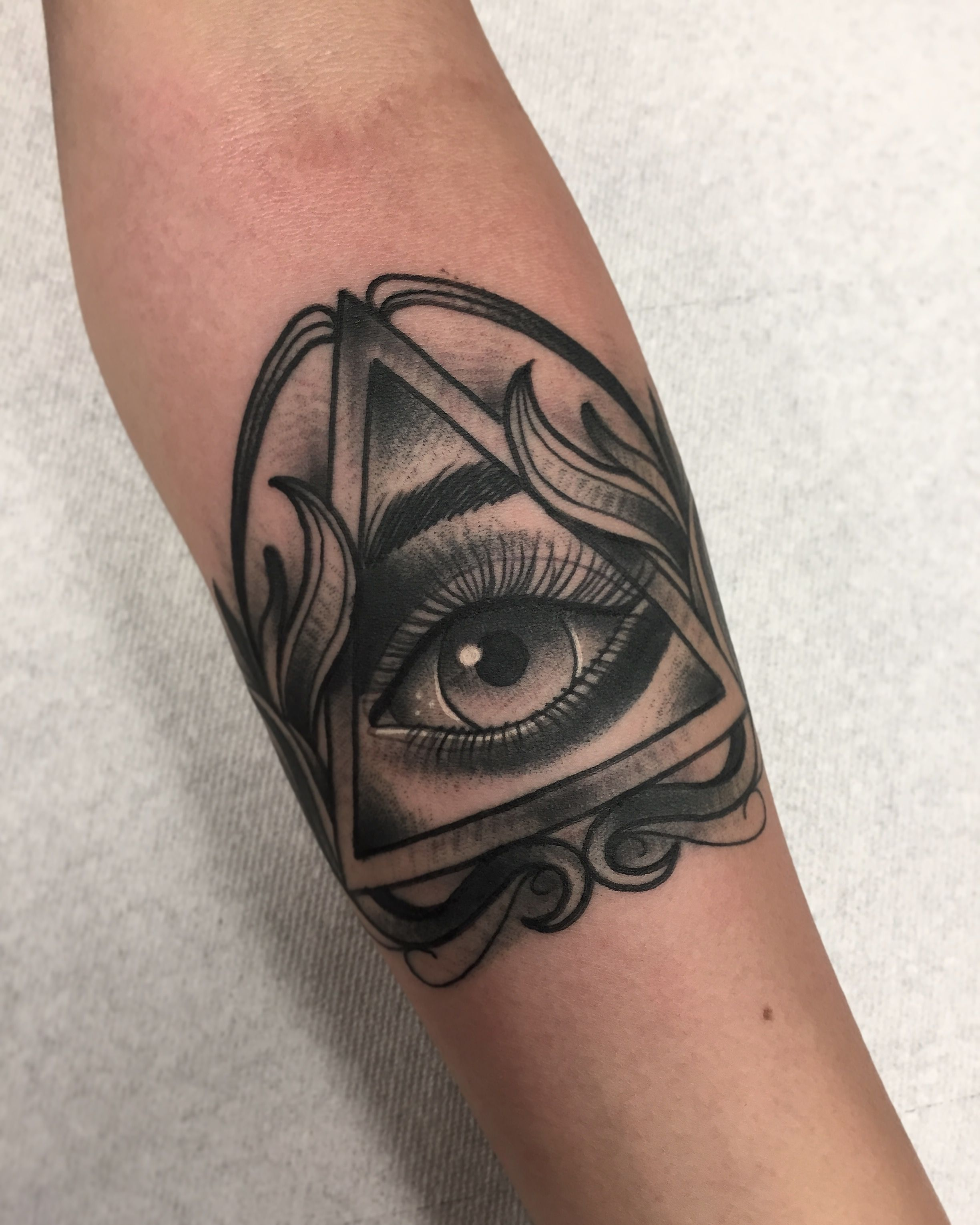All Seeing Eye By Robert Cabello At Infamous Ink In Pico Rivera Ca