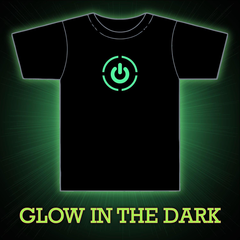 Design t shirt glow in the dark - Glow In The Dark Xbox 360 Power Symbol Mens Unisex Vinyl Pressed T Shirt