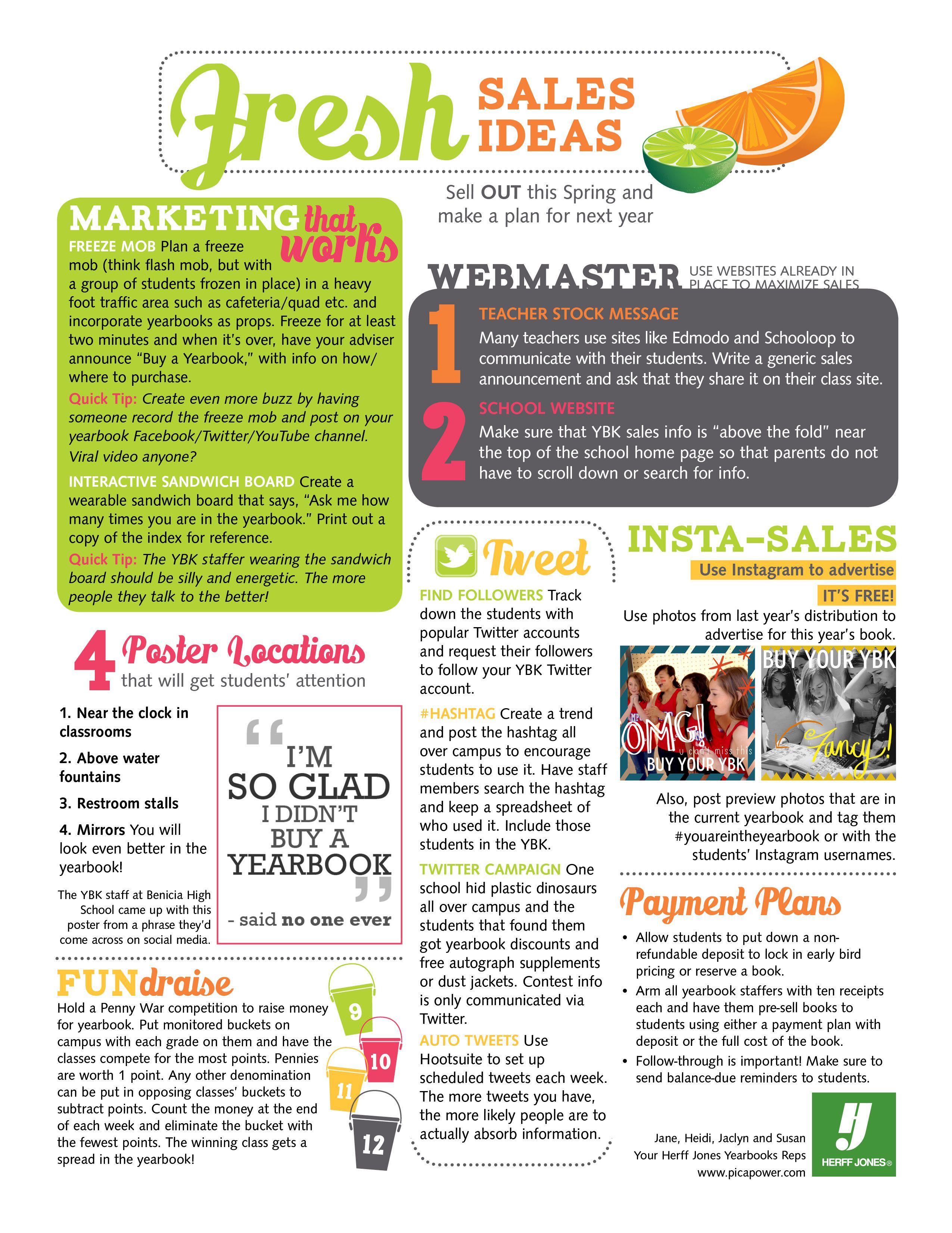 Yearbook sales ideas yearbook pinterest