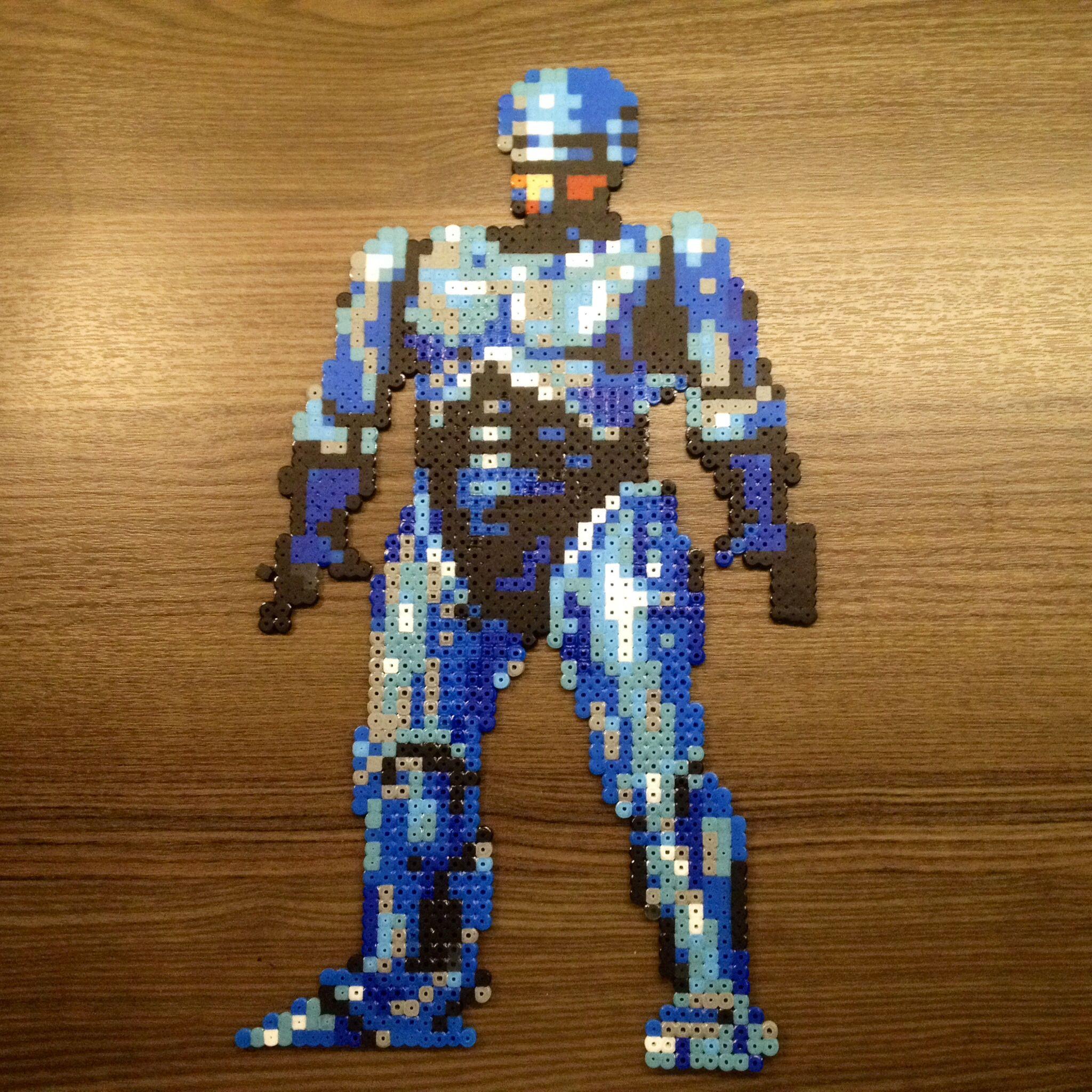 Robocop hama perler beads by Lauro Espinosa Val