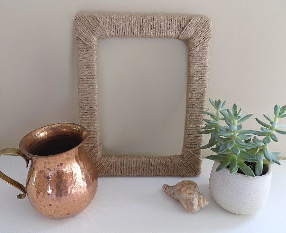 Jute Wrapped Frame/Rustic Home Decor/11 x 14 Open Frame/11 x 14 ...