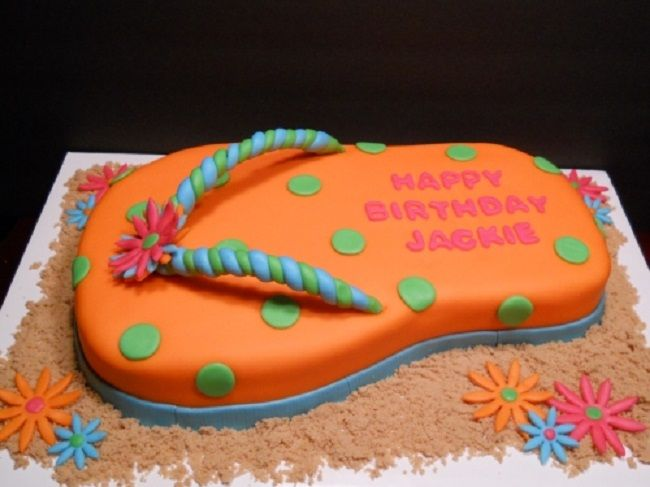 Flip Flop Cake Ideas New Cake Ideas Flip Flop Cakes Themed