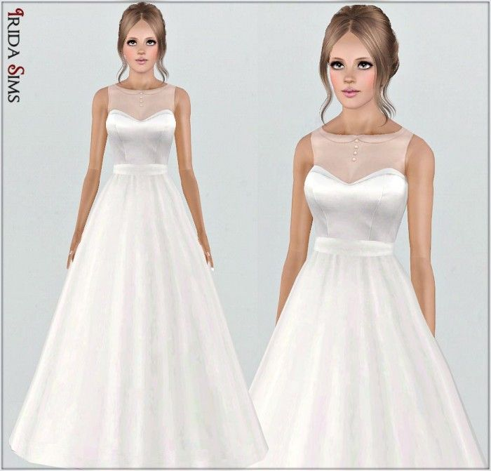 Wedding dress 30-I by Irida - Sims 3 Downloads CC Caboodle | sims ...