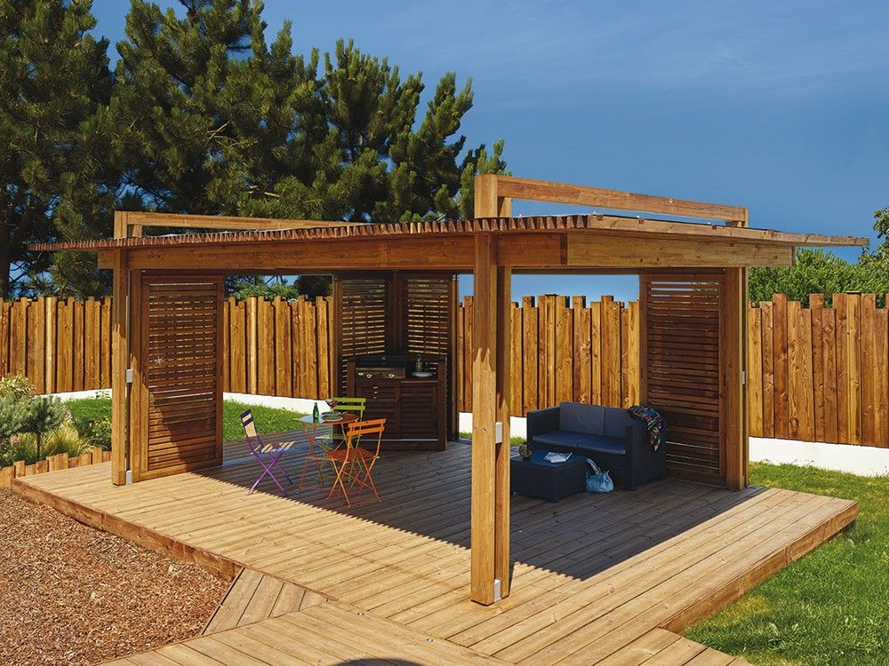 magnifique pergola en bois man a pergola bois atypique ext rieur d co jardin abris de. Black Bedroom Furniture Sets. Home Design Ideas