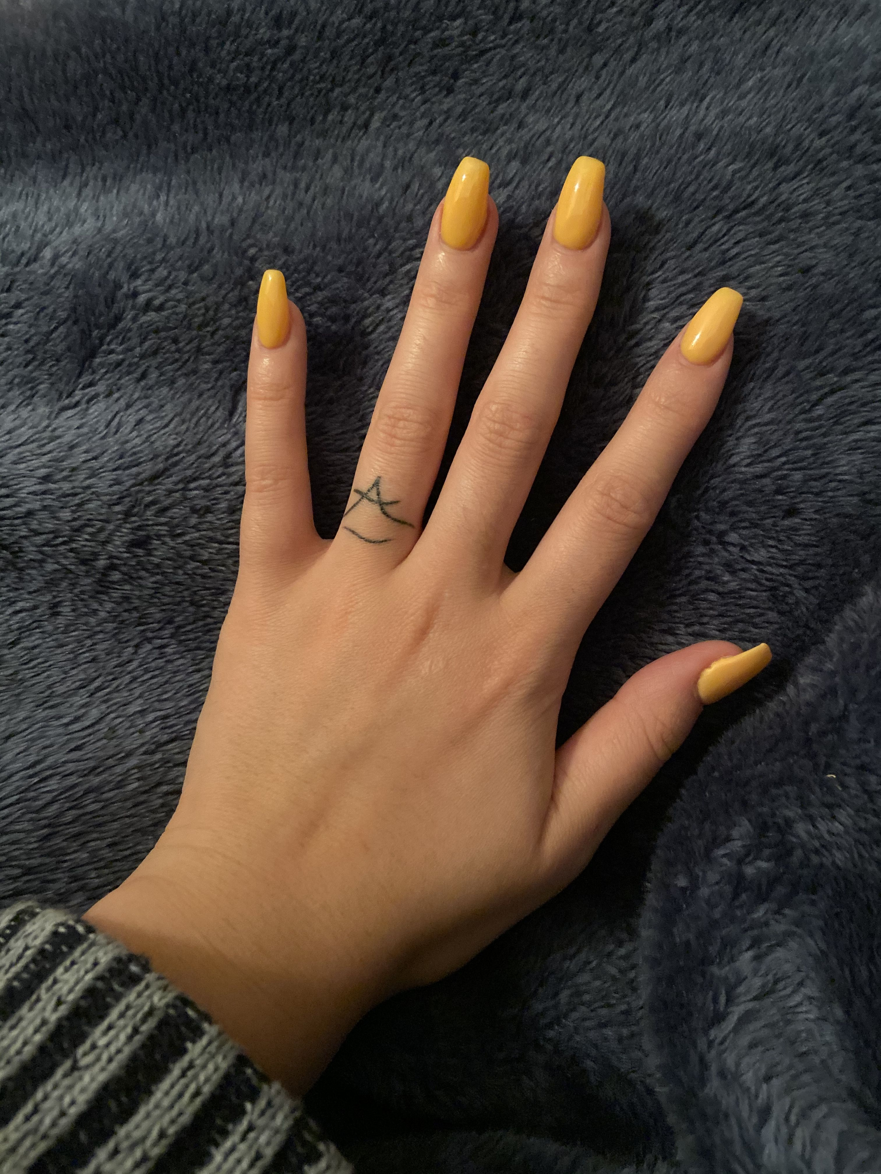 Sunflower Yellow Nails Acrylic Nails Coffin Short Short Coffin Nails Designs Short Coffin Nails