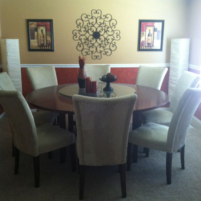 My Dining Room!!! Pumpkin Orange With A Faux Red Under The