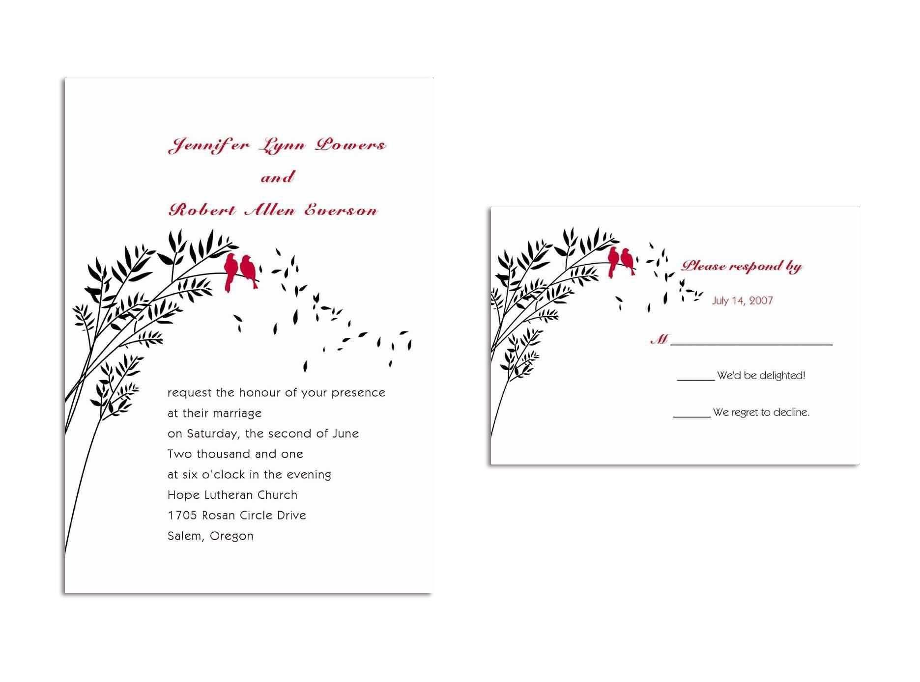 Invitation Response Cards   New Invitation Cards