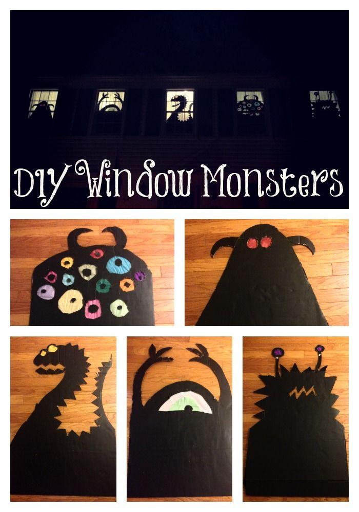 diy wooooooh bientt halooooween interior windowswindows decorhalloween window decorationsmonster