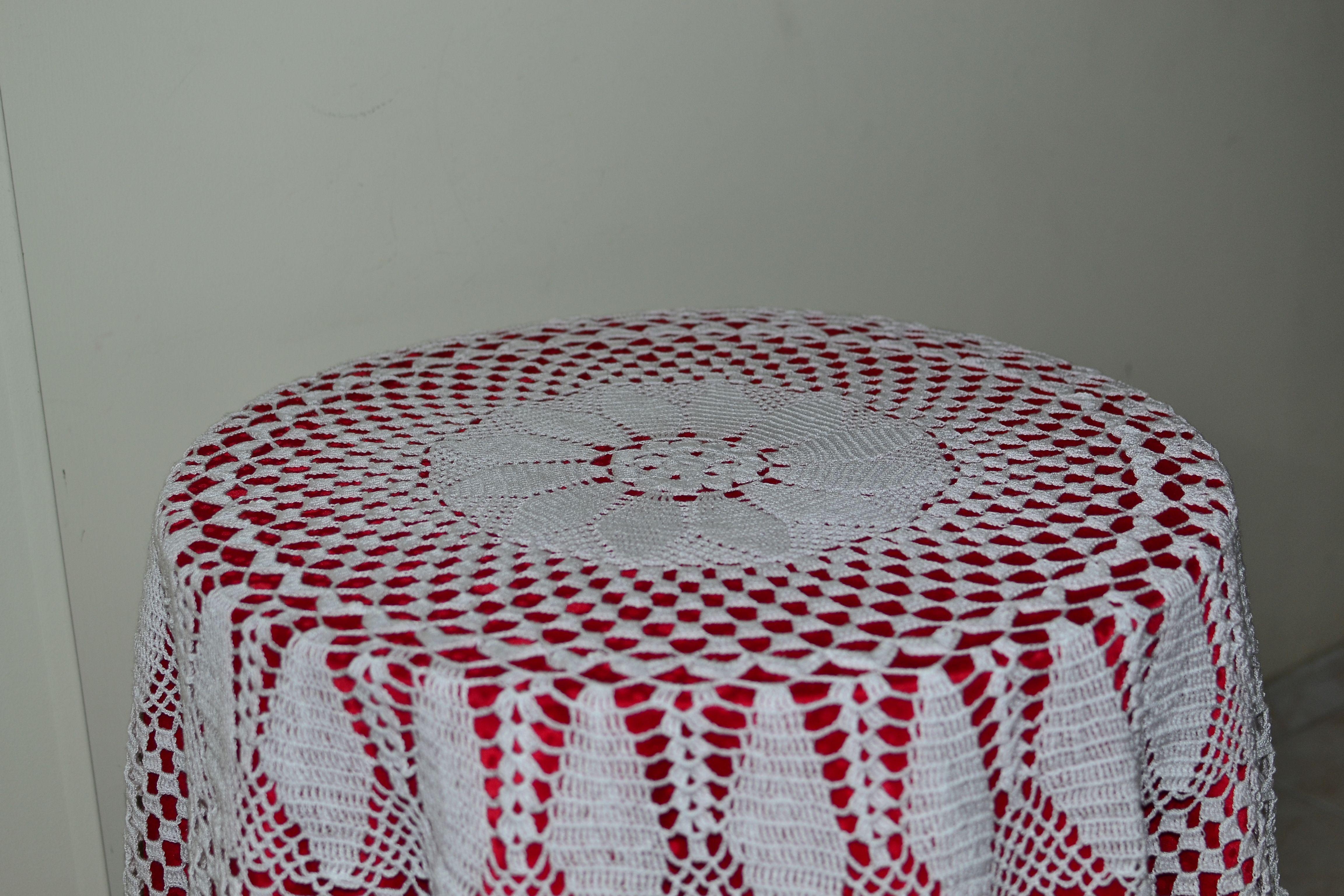 Tables mantels redondo redondo en - Mantel de crochet ...