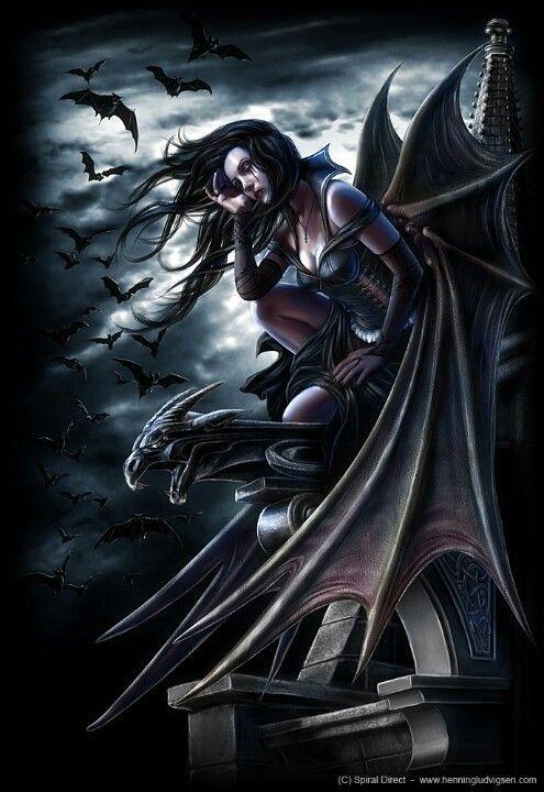 Bat Woman Dark Fantasy Art Vampire Art