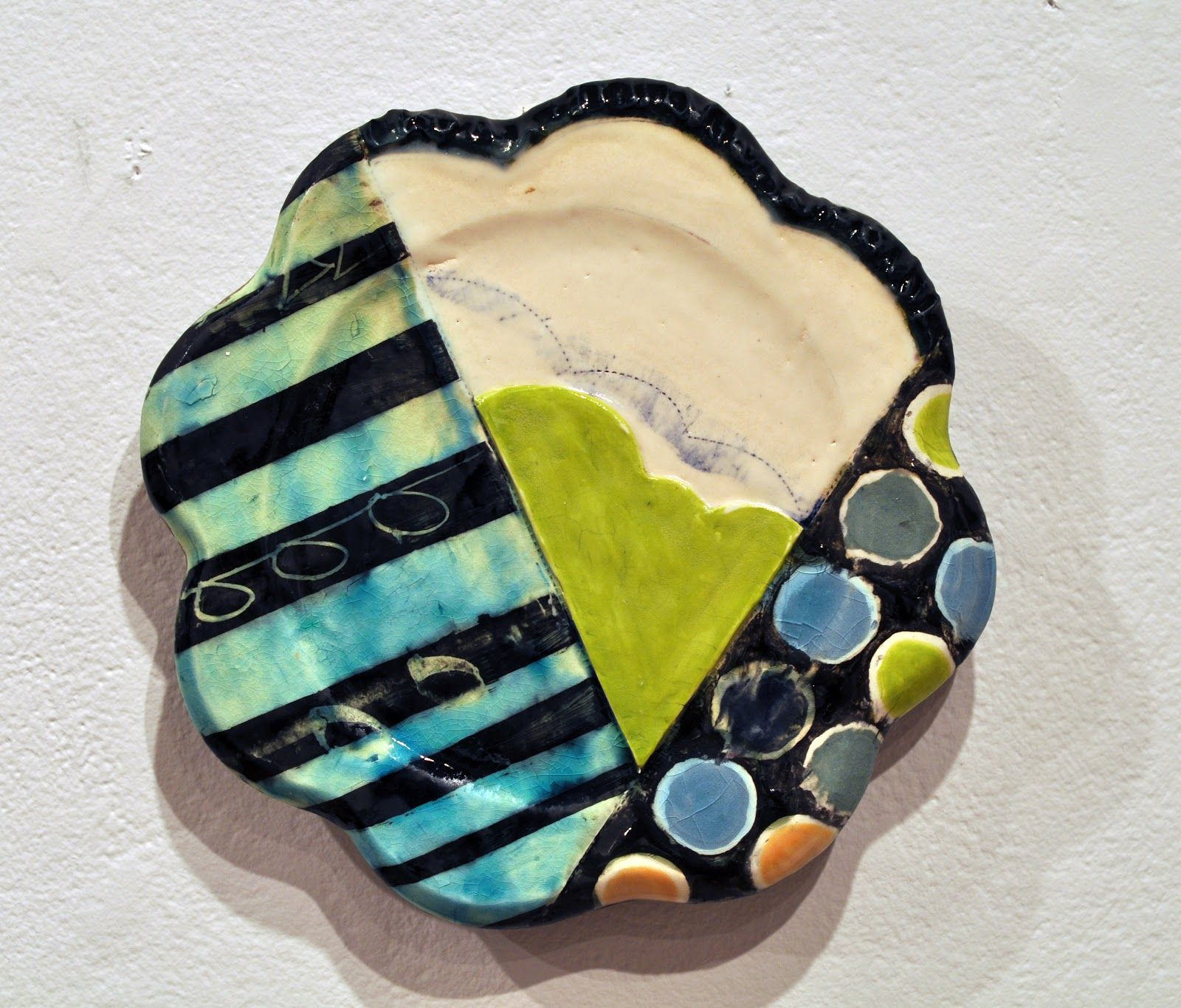 Scalloped edges, stripes, dots, and bold everything... very awesome piece by Mary Baugh - mary.makes.things: Candidacy Show
