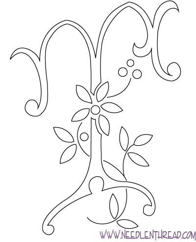 Monogram For Hand Embroidery Letter T Embroidery Embroidery