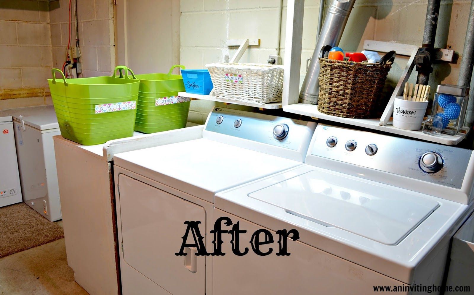 the laundry room is all clean