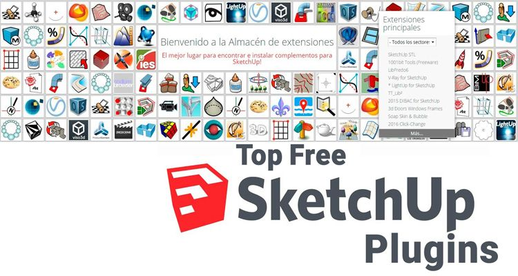 20 essential sketchup plugins for efficient modeling for free download render. Black Bedroom Furniture Sets. Home Design Ideas