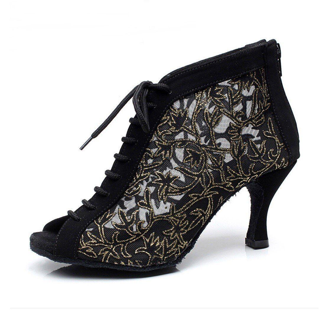 Modern Ballroom Party Dance Heels Women Lace Up Tango Salsa Latin Dancing Shoes