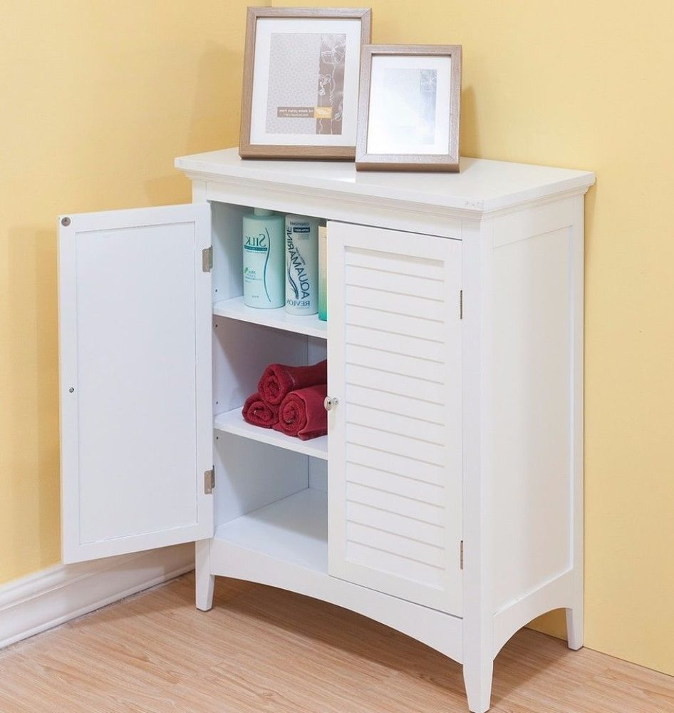 White Double Door Floor Storage Cabinet Bathroom Furniture Cabinet Modern Shelving Online Kitchen Cabinets Wood Shelves