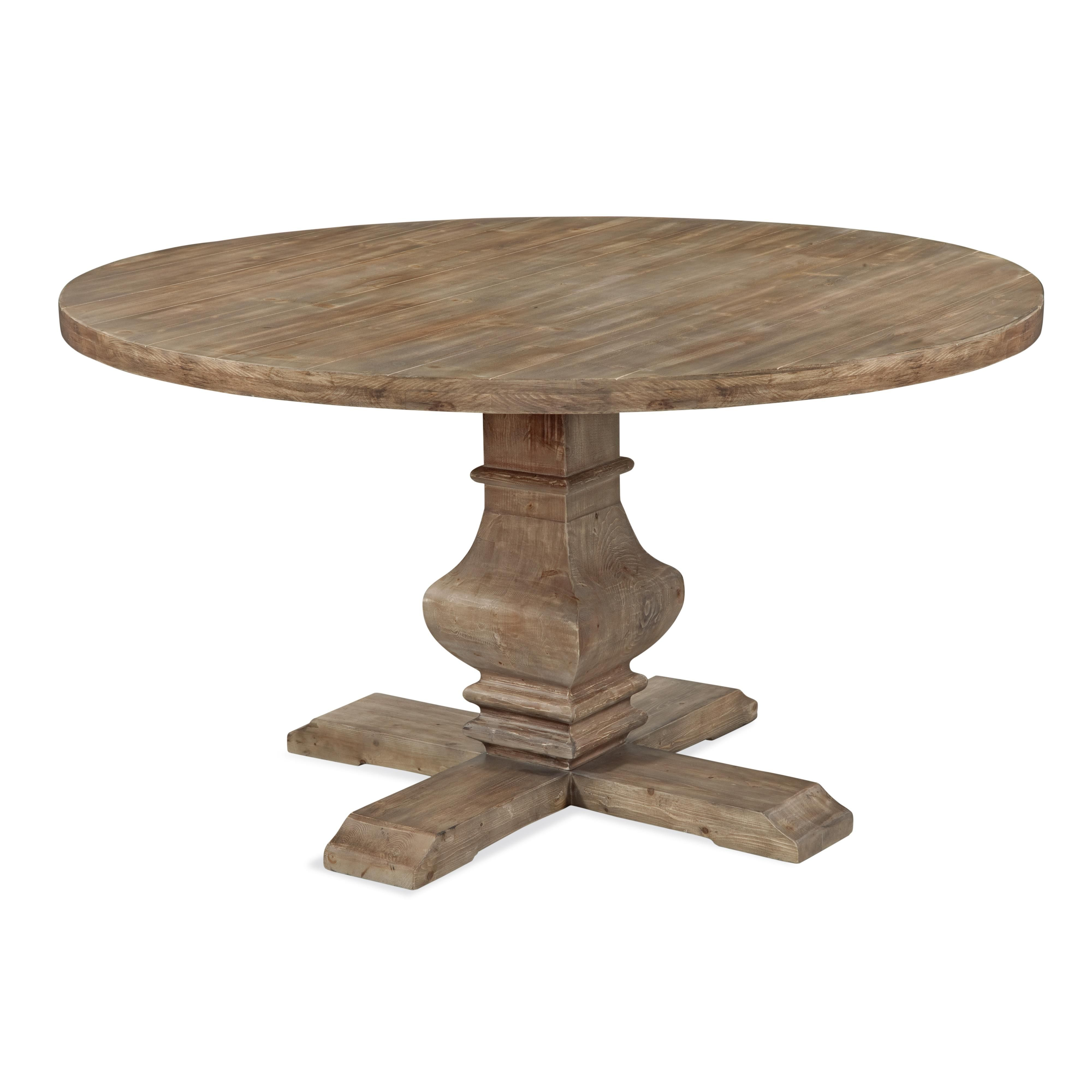 Belgian luxe kinzie round dining table by bassett mirror at hudsonus