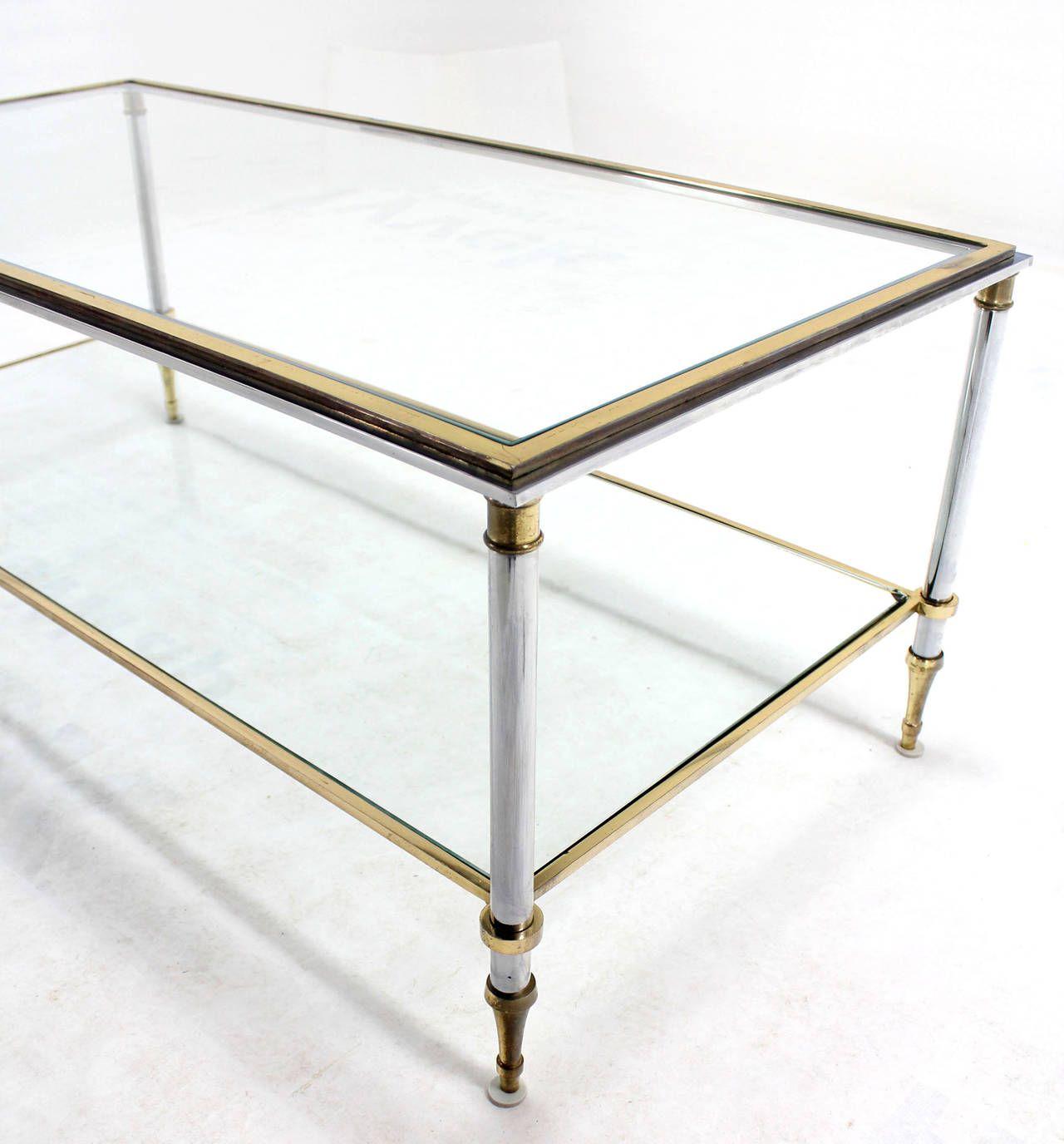 Brass Chrome And Glass Top Mid Century Modern Rectangular Coffee Table 1stdibs Com Rectangular Coffee Table Coffee Tables For Sale Coffee Table Images [ 1376 x 1280 Pixel ]