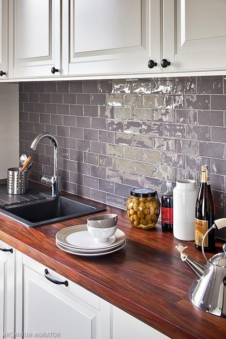 Inspiracje Na Wykonczenie Sciany Nad Blatem W Kuchni Home Kitchens Kitchen Living Living Room Kitchen