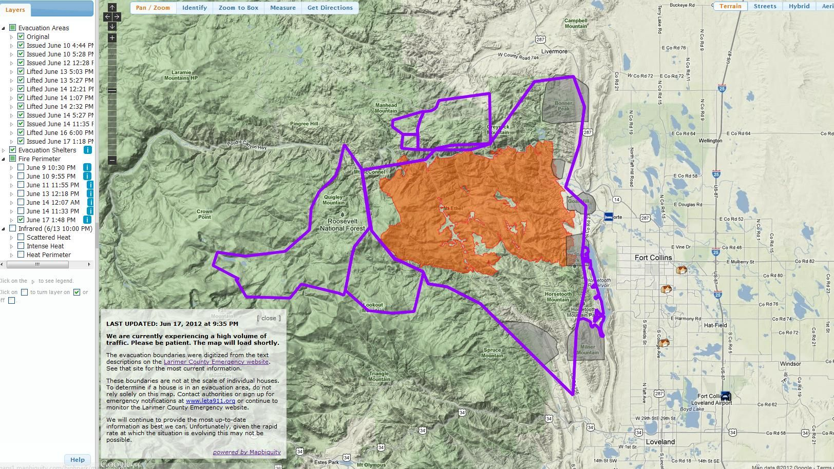 High Park Fire Map.High Park Fire Map Snapshot Maps And Charts Map Park Fire