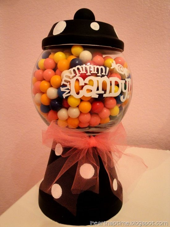 halloween candy jar Creative ideas Pinterest Dulceros, Centros