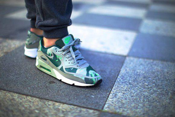 1ab74b67d34 Nike Air Max 90 Premium Tape Green Mortar