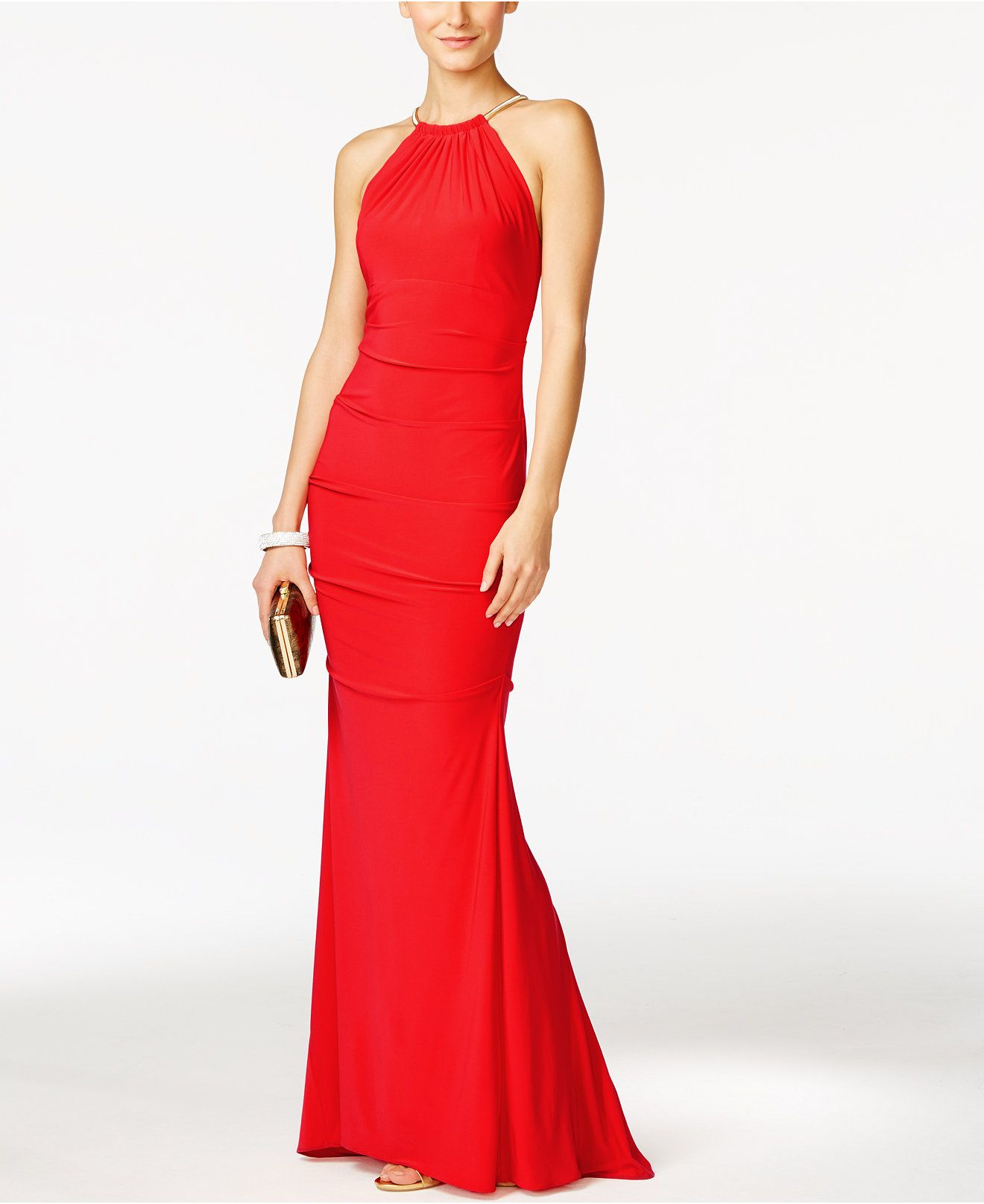 Red Halter Prom Dress Macy's