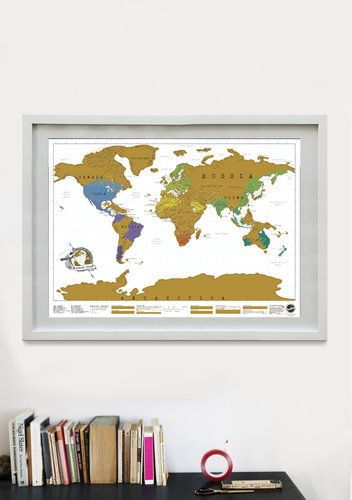 A World Map That Lets You Scratch Off Where Youve Been Maps - Framed scratch world map