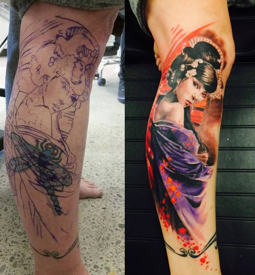 Tattoo Ideas Joe: Toronto Tattoo Geisha Cover Up Tattoo