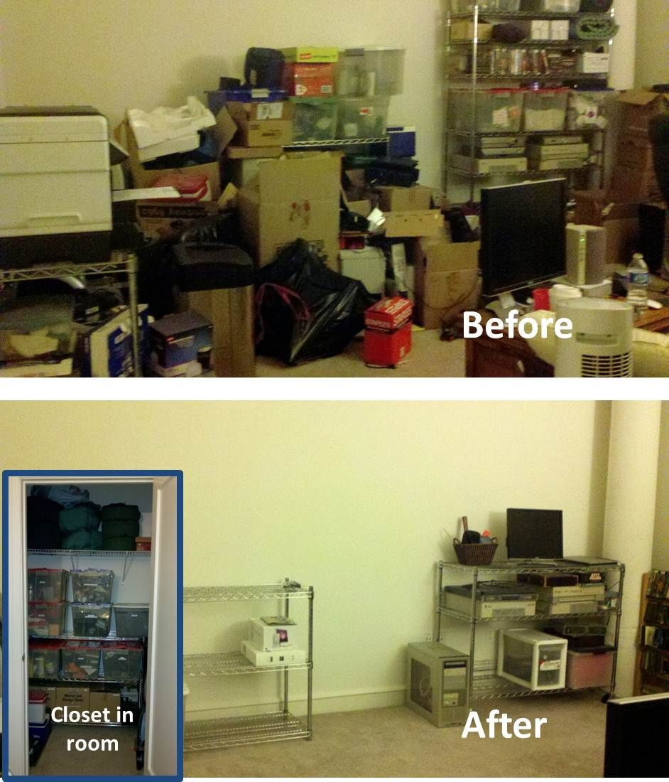 home office items. Home Office - This Homeowner Downsized To An Apartment And Needed Work Out The Basement Garage Storage Items That Were Now In His Office.