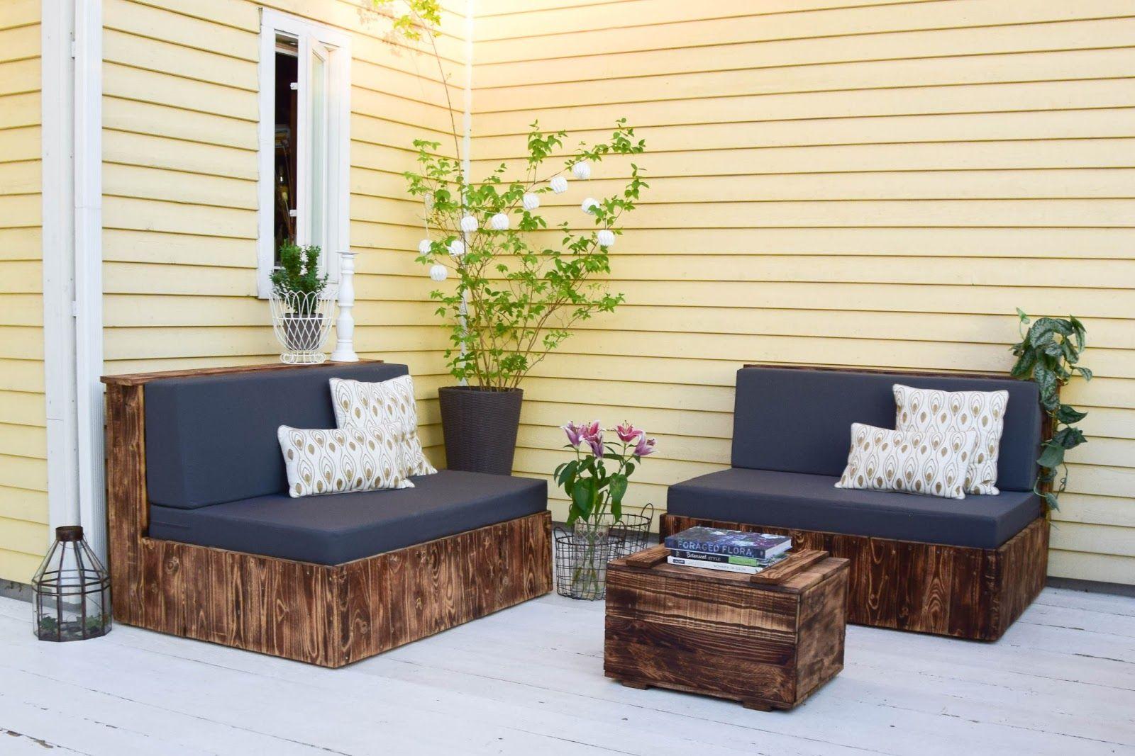 DIY Terrasse aus Euro Paletten