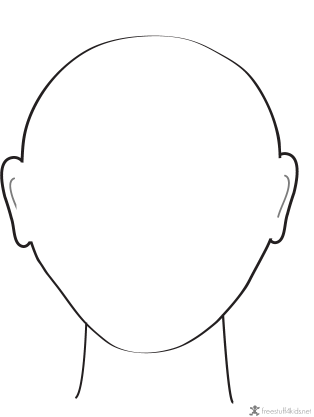 This Printable Blank Faces is free for you today to print out ...